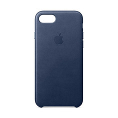 Аксессуар Чехол APPLE iPhone 7/8 Leather Case Midnight Blue MQH82ZM/A