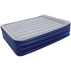Надувная кровать со встроенным насосом bestway nightright raised air bed 203х152х56 см 67528 bw