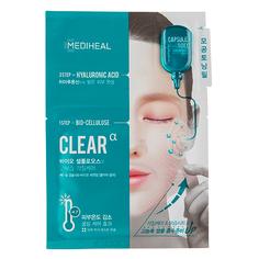 Маска для лица `MEDIHEAL` CLEAR 2-х ступенчатая с гиалуроновой кислотой 27 мл
