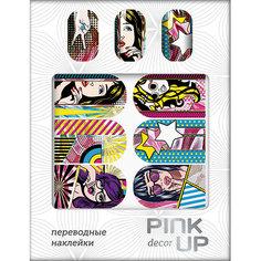 Наклейки для ногтей переводные `PINK UP` NAIL DESIGN тон 532