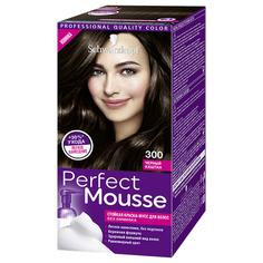 Краска-мусс для волос `PERFECT MOUSSE` тон 300 (черный каштан) 35 мл
