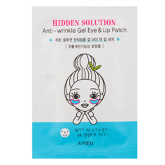 Патчи для глаз и носогубных складок `A`PIEU` HIDDEN SOLUTION гидрогелевые против морщин 2 гр Apieu
