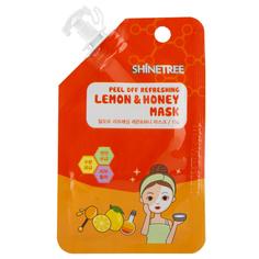 Маска для лица `SHINETREE` Лимон и мед (освежающая) 15 мл