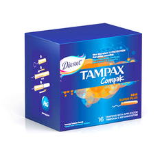 Тампоны с аппликатором `TAMPAX` COMPAK Super Plus 16 шт