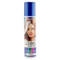 Спрей для волос оттеночный `VENITA` 1-DAY COLOR White (белый) 50 мл