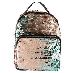 Рюкзак `LADY PINK` SHINE ON с пайетками бежево-голубой