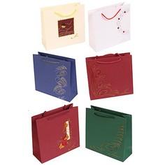 Сумка бумажная GRANDGIFT подарочная в ассортименте 21см*22см*8см