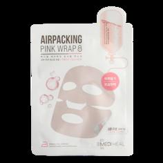 Маска для лица `MEDIHEAL` AIRPACKING pink wrap с коллагеном и керамидами (фольгированная) 18 мл