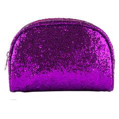 Косметичка овальная GLITTER `LADY PINK` SHINE ON фиолетовая