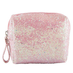 Косметичка GLITTER small size `LADY PINK` SHINE ON розовая