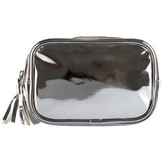 Косметичка прямоугольная `LADY PINK` METAL SHOCK серебряная