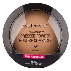 Пудра компактная для лица `WET N WILD` PHOTO FOCUS тон E826c Golden tan