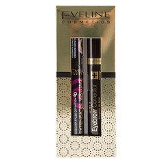 Набор подарочный женский `EVELINE` (тушь для ресниц Объем и удлинение, корректор для бровей 5 в 1 бесцветный)