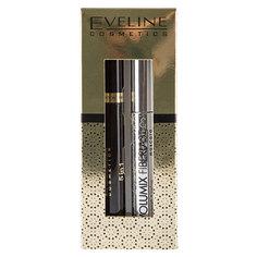 Набор подарочный женский `EVELINE` (тушь для ресниц Объем и разделение черная, корректор для бровей 5 в 1 бесцветный)