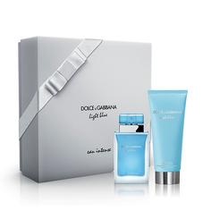 Набор подарочный женский `DOLCE & GABBANA` LIGHT BLUE INTENSE (парфюмерная вода 50 мл, крем для тела 100 мл)