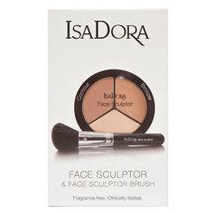 Набор подарочный женский `ISADORA` (многофункциональное средство для макияжа лица Face Sculptor, кисть для макияжа лица Face Sculptor Brush)