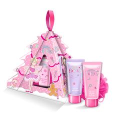 Набор подарочный детский `GLITTER FAIRIES` (гель для душа 100 мл, пена для ванны 100 мл, мочалка)