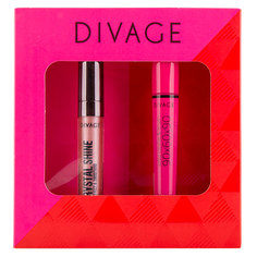 Набор подарочный женский `DIVAGE` (тушь для ресниц 90Х60Х90 тон 6101, блеск для губ CRYSTAL SHINE тон 04)