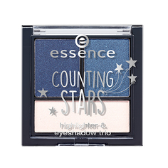 Палетка теней для век `ESSENCE` COUNTING STARS 3 в 1 (тон 02)