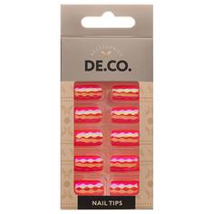 Набор накладных ногтей `DE.CO.` HOLOGRAM coral reef (24 шт + клеевые стикеры 24 шт) Deco