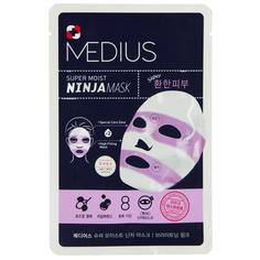 Маска для лица `MEDIUS` SUPER MOIST NINJA MASK для сияния кожи 33 мл