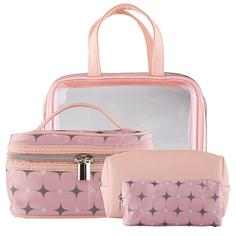 Набор из 4-х косметичек `LADY PINK` розовый