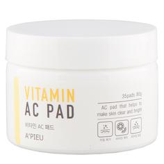 Пилинг-диски для лица `A`PIEU` с АНА и ВНА-кислотами и 6 витаминами 35 шт Apieu