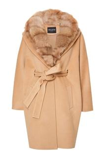 Кашемировое пальто с мехом куницы Dreamfur