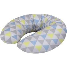 Подушка для кормления Ceba Baby Mini (Себа Беби Мини) Triangle blue-yellow трикотаж W-702-067-019