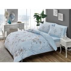 Комплект постельного белья TAC 2-х сп, ранфорс, Beatrice V03-mavi, голубой (3044-66927)