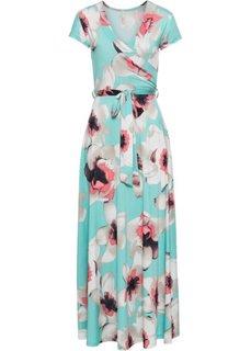 Платье (мятный в цветочек) Bonprix