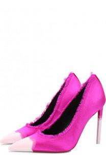 Шелковые туфли Frayed с бахромой на шпильке Tom Ford