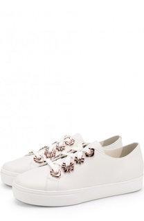 Кожаные кеды Penny Flower на шнуровке Sophia Webster