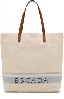 Текстильная сумка-шоппер Escada