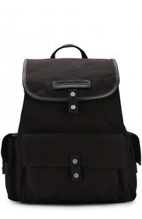 Текстильный рюкзак с клапаном и кожаной отделкой Dsquared2