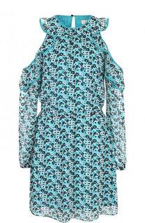 Приталенное мини-платье с разрезами на плечах MICHAEL Michael Kors