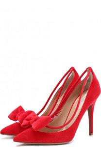 Бархатные туфли Valentino Garavani DollyBow на шпильке Valentino