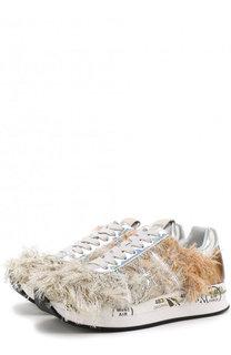 Кожаные кроссовки Conny с текстильной отделкой Premiata