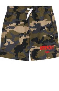 Плавки-шорты с принтом и контрастной отделкой Givenchy