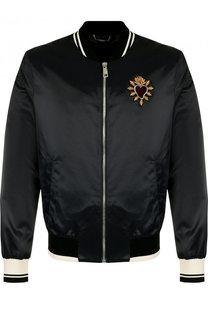 Бомбер на молнии с аппликацией Dolce & Gabbana