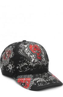 Шелковая бейсболка с принтом Dolce & Gabbana