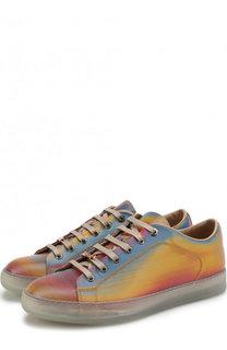 Кожаные кеды на шнуровке Lanvin