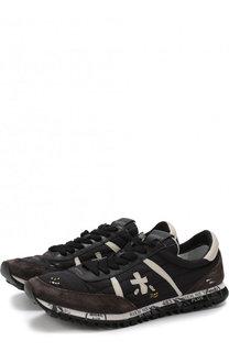 Комбинированные кроссовки Sean на шнуровке Premiata