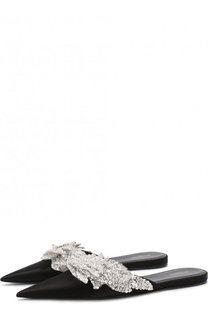 Атласные сабо Slash с аппликацией Balenciaga