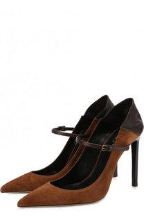 Замшевые туфли Majorelle на шпильке Saint Laurent