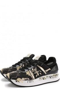 Текстильные кроссовки Liz на шнуровке Premiata