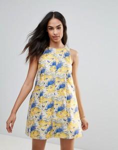 Платье с принтом FRNCH - Синий