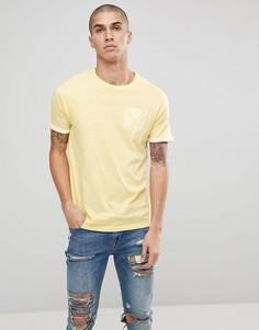 Футболка с карманом Brave Soul - Желтый