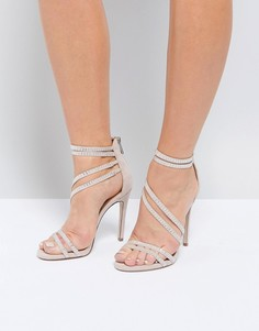 Босоножки на каблуке с ремешками Miss KG - Бежевый