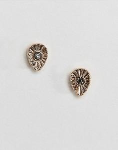 Маленькие серьги-гвоздики каплевидной формы ASOS DESIGN - Золотой